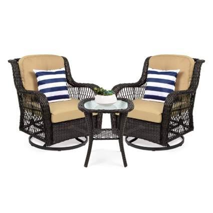 wicker rocking chair bistro set