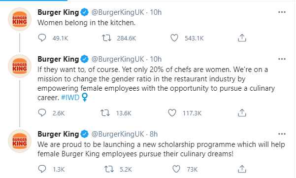 burger king UK scholarship