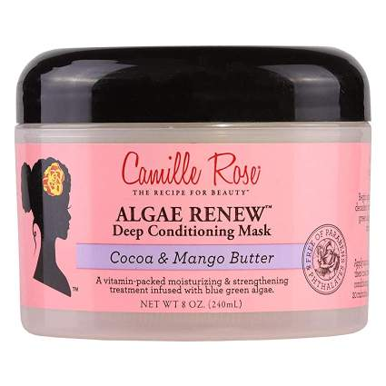 Pink and black Camille Rose hair mask jar