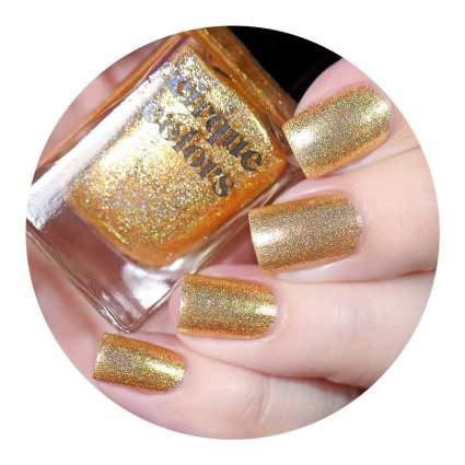 gold holographic nail polish