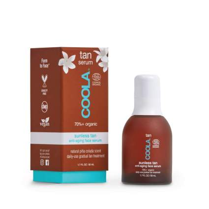 Coola Organic serum self tanners for face