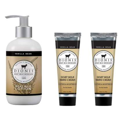 goat milk lotion and hand cream