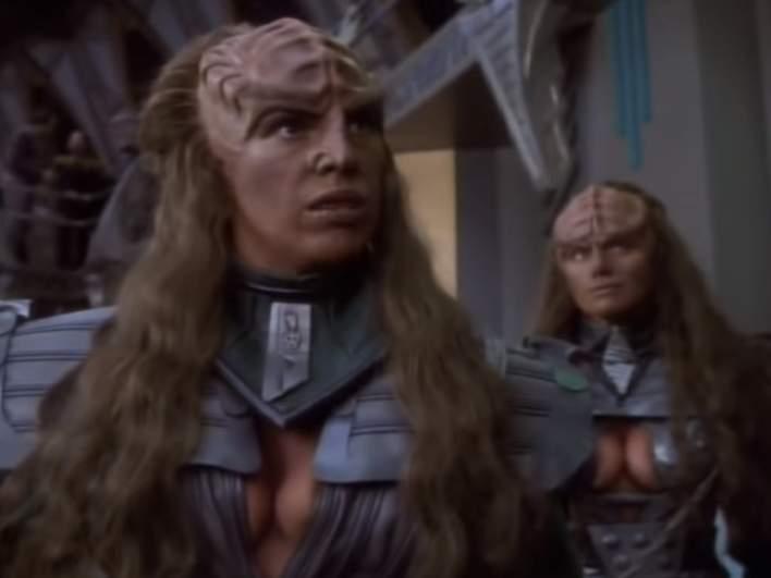 "The Duras Sisters, Klingons from ""Star Trek: The Next Generation"" and ""Star Trek: Deep Space Nine"""