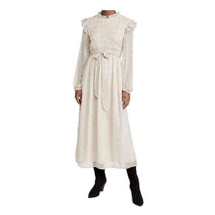 En Saison Women's Smocked Chiffon Midi Dress