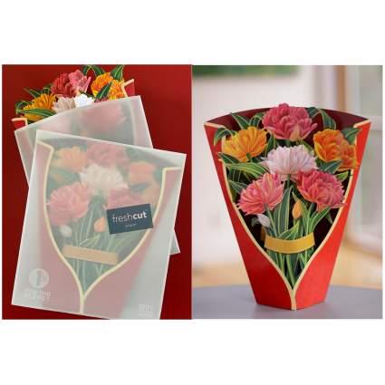 pop up paper bouquet