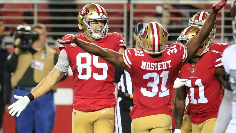 49ers George Kittle and Raheem Mostert