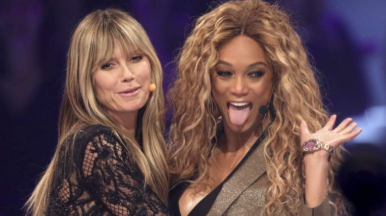 """Tyra Banks and Heidi Klum at the """"Germany's Next Top Model"""" finals"""