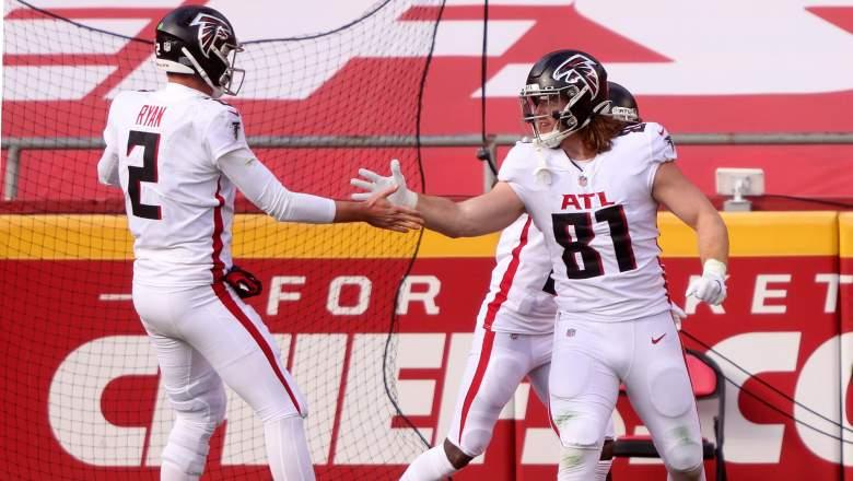 Falcons tight end Hayden Hurst