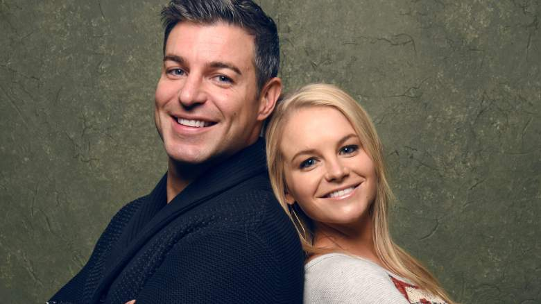 TV personalities Jeff Schroeder and Jordan Lloyd pose for a portrait at the Village at the Lift Presented by McDonald's McCafe during the 2015 Sundance Film Festival