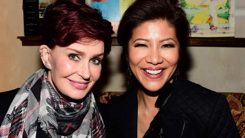 "Sharon Osbourne (L) and Julie Chen attend a celebration for Linda Perry's song ""Hands Of Love"""