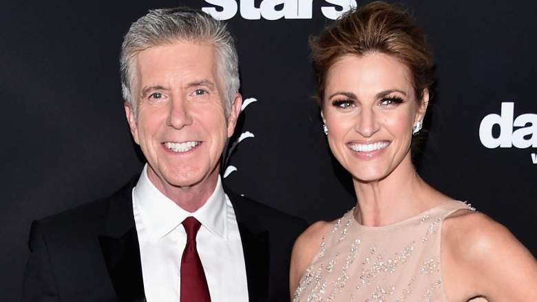 """TV hosts Tom Bergeron and Erin Andrews attend ABC's """"Dancing With The Stars"""" Season 23 Finale"""