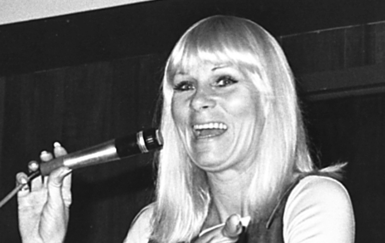 Grace Lee Whitney appearing at a science fiction convention in Houston, Texas, United States.