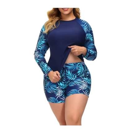 Hanna Nikole Long Sleeve Swimsuit