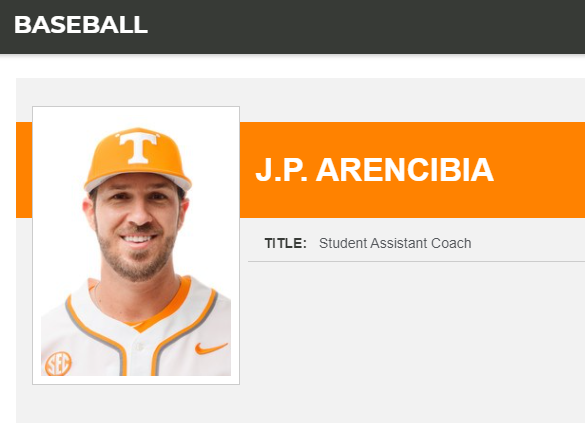arencibia university of tennessee