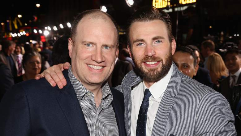 Kevin Feige and Chris Evans