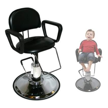 Miniature black salon chair for children