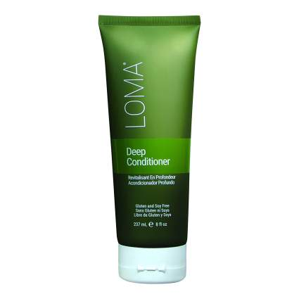bright green LOMA hair care product