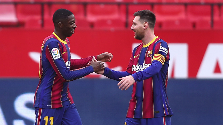 Lionel Messi and Frenkie de Jong