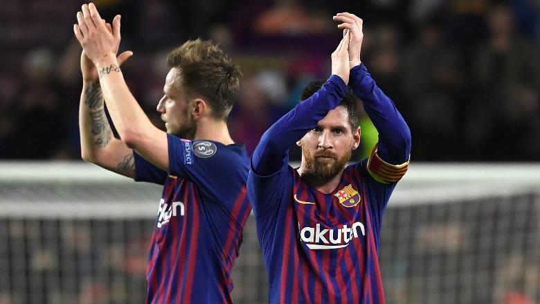 Lionel Messi and Ivan Rakitic