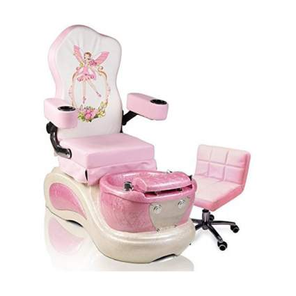 pink pedicure chair for kids