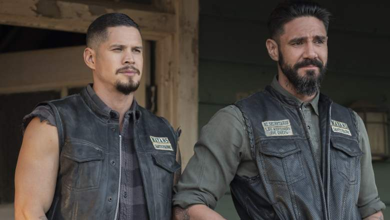 "MAYANS M.C. -- ""The Orneriness of Kings"" -- Season 3, Episode 2 Pictured: JD Pardo as EZ Reyes, Clayton Cardenas as Angel Reyes."