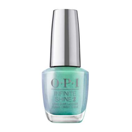 Mint green and lavender nail polish bottle