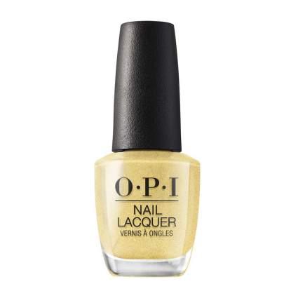 OPI yellow metallic nail polish