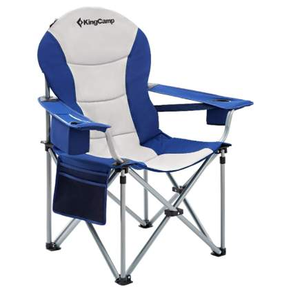 padded camping chair with lumbar support