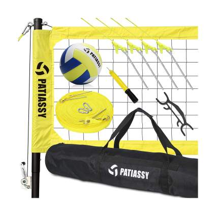 Patiassy Portable Professional Outdoor Volleyball Net Set