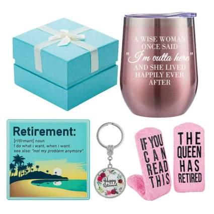 retirement gift box of goodies