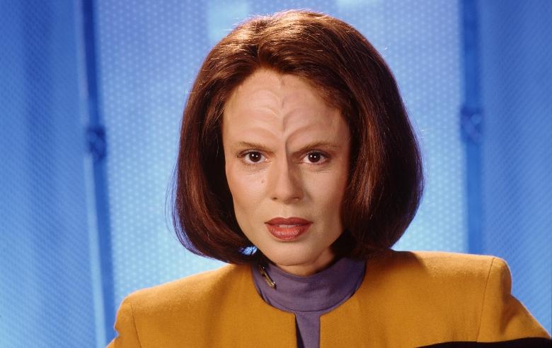 "Roxann Dawson as B'Elanna Torres on ""Star Trek: Voyager"""