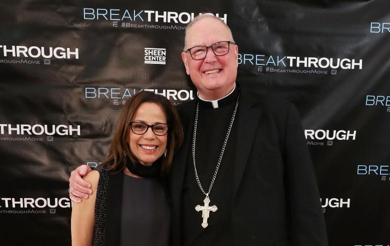 Roxann Dawson and Cardinal Timothy Dolan