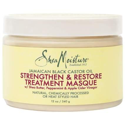 Jar of SheaMoisture hair masque