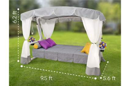 Sit&Swing Deluxe Daybed Canopy Swing