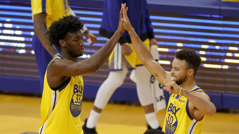Steph Curry James Wiseman