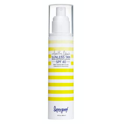 Supergoop sunless tan best self tanners for face