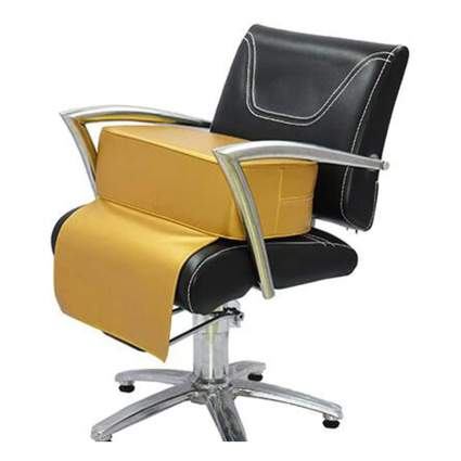 Metallic gold booster seat for salon chairs