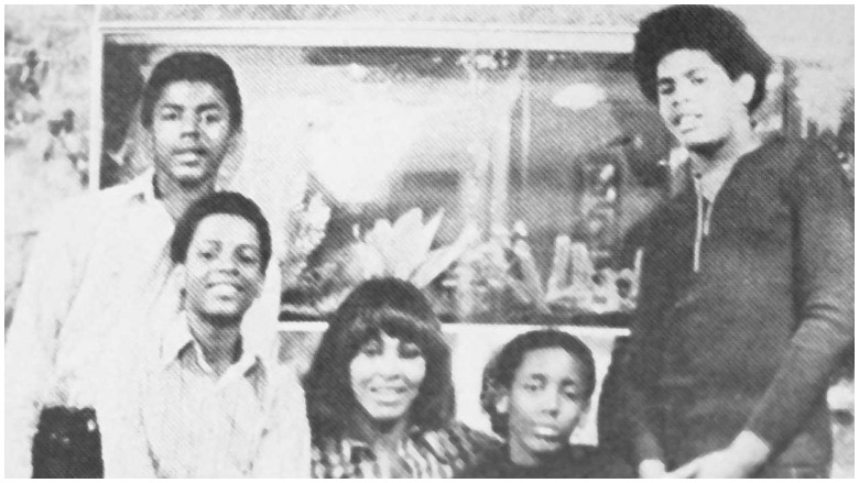 Tina Turner with her sons