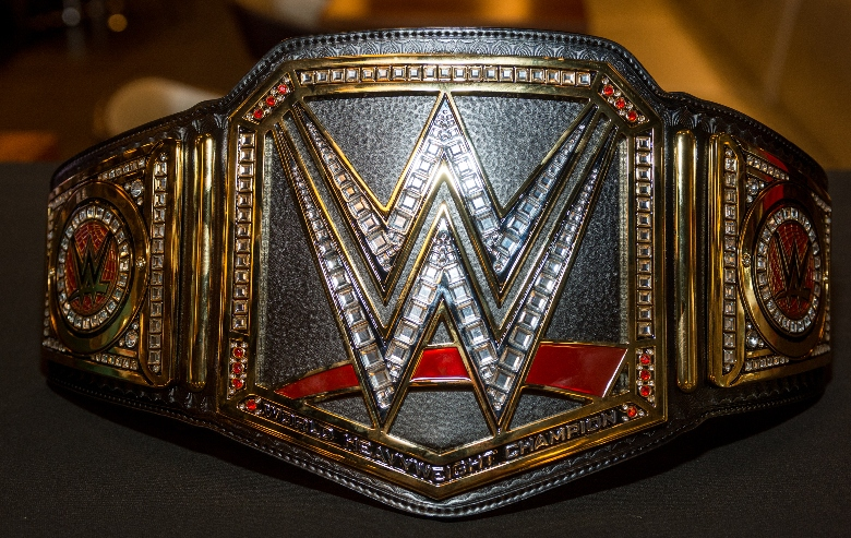WWE Championship Belt presented during the Beyond Sport United 2016 at Barclays Center on August 9, 2016 in Brooklyn, New York.