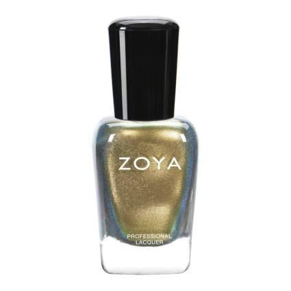 Olive-toned gold zoya nail polish