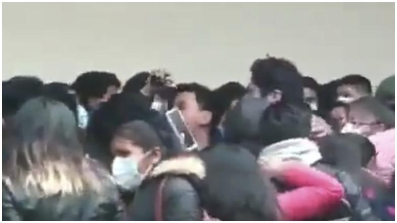 bolivian students fall video