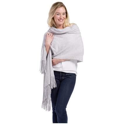 gray cashmere shawl