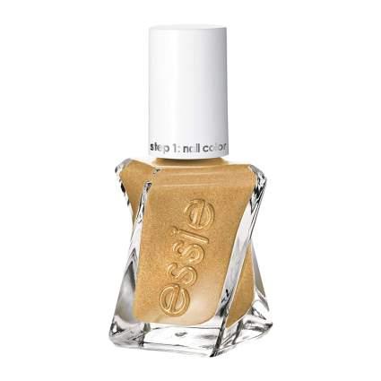 dark gold essie couture nail polish bottle