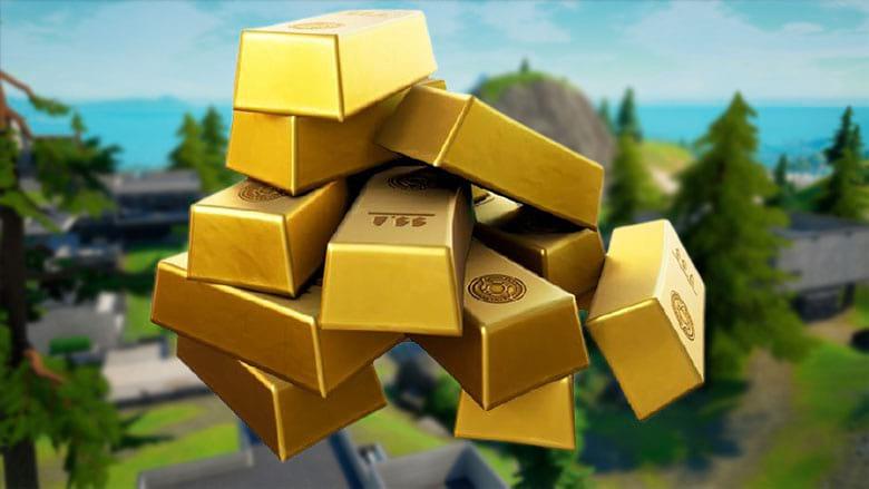 fortnite gold bars sell weapons npcs