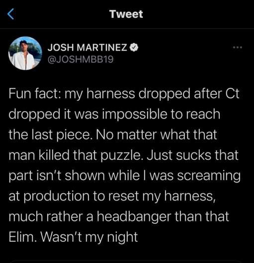 Josh Martinez tweet