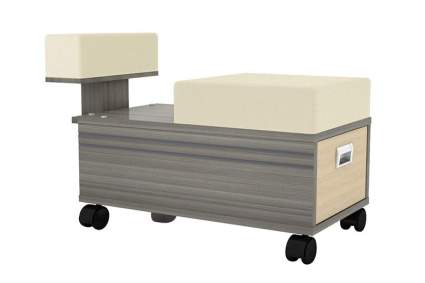 Neutral tal pedicure cart on wheels