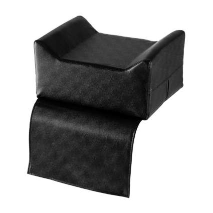 Black salon booster seat with sides