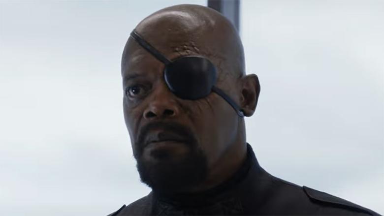 why nick fury wear eye patch