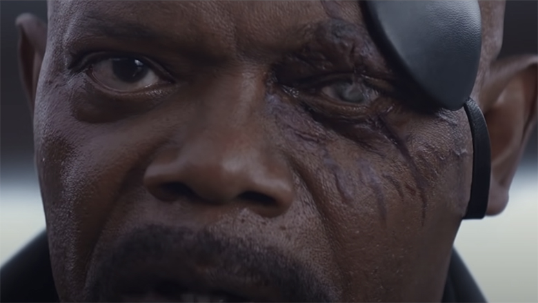 why does nick fury wear an eye patch