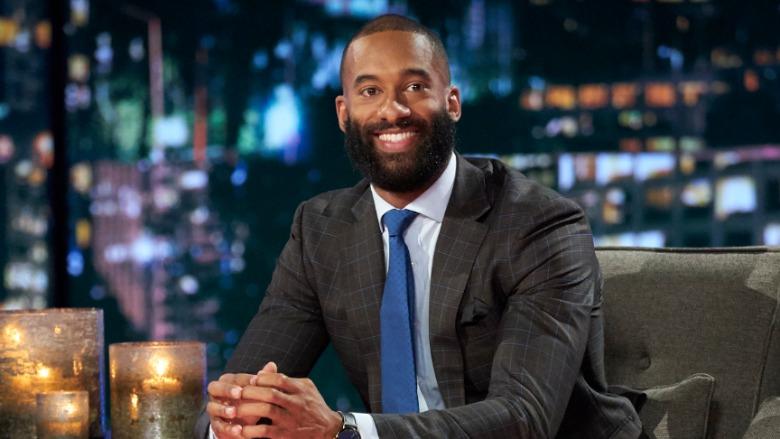 Matt James with a beard on the 'Women Tell All.'